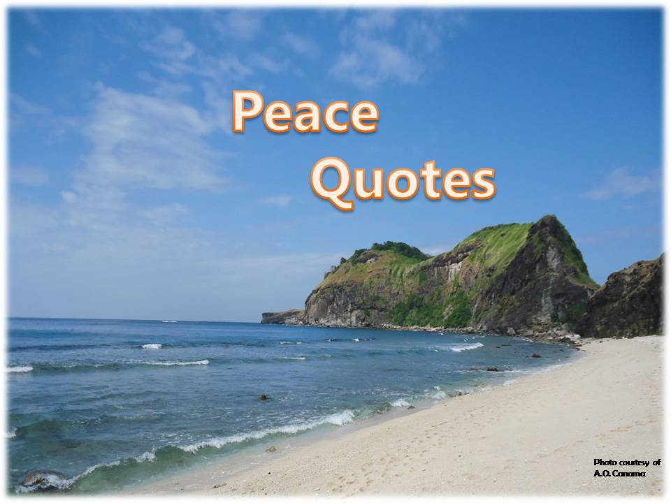 "Alt= ""An inspirational peace quotes."""