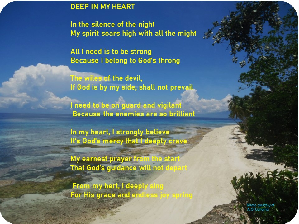 "Alt= ""A heartfelt christian poem, entitled Deep in my Heart."""
