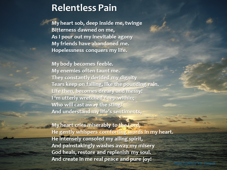 "Alt="" A poem about hopelessness and healing grace. Many of us are suffering and painful situation."""